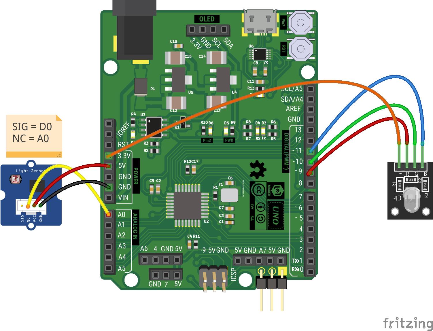 led rgb light sensor